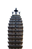 Temple tower isolated Royalty Free Stock Photo
