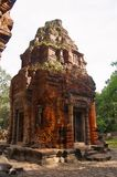 Temple Tower ruins, Prasat Preah Ko, Roluos, Cambodia. Circa Late 9th century Royalty Free Stock Photography