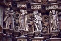 Temple town of Khajuraho Royalty Free Stock Images