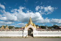 Temple in the town on Nyaungshwe, Near Inle Lake, Myanmar Royalty Free Stock Image