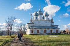 The temple in the town of Tutaev, Yaroslavl region. One of the many temples in the small Volga town of Tutaev, Yaroslavl region royalty free stock images