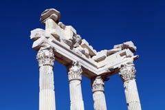 Temple of Trajan on the Acropolis of Pergamon. Stock Image