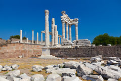 Temple of Trajan at Acropolis of Pergamon in Turkey Royalty Free Stock Photos