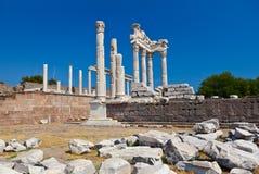 Temple of Trajan at Acropolis of Pergamon in Turkey Royalty Free Stock Photos