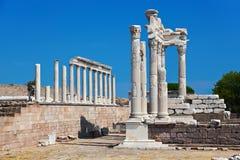 Temple of Trajan at Acropolis of Pergamon in Turkey Stock Photography