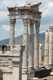 Temple of Trajan at Acropolis of Pergamon. Royalty Free Stock Image