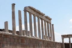 Temple of Trajan at Acropolis of Pergamon. Royalty Free Stock Photography