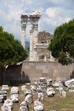 Temple of Trajan at Acropolis of Pergamon. Royalty Free Stock Images
