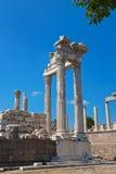 Temple of Trajan at Acropolis of Pergamon in Turkey Royalty Free Stock Image