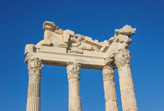 Temple of Trajan in Bergama Acropolis Royalty Free Stock Image