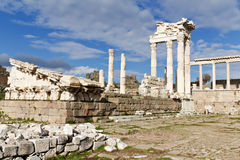 Temple of Trajan, Pergamon, Turkey. Temple of Trajan in the Ruins of the Ancient Greek City of Pergamon in Bergama, Turkey Royalty Free Stock Image