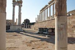 Temple of Trajan at Pergamos Stock Image