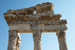 Temple of Trajan at Pergamos Royalty Free Stock Photo