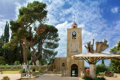 Temple of the Transfiguration of the Lord. Mount Tabor. Galilee stock photos