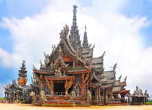 Temple of truth. Pattaya Thailand Stock Photo