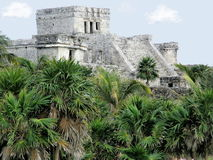 Temple in Tulum Stock Photo