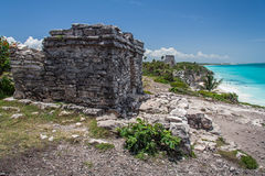 Temple Tulum Mexico Royalty Free Stock Images