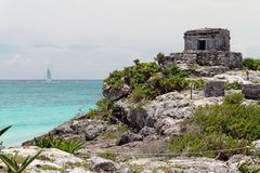 Temple Tulum Mexico Royalty Free Stock Photos