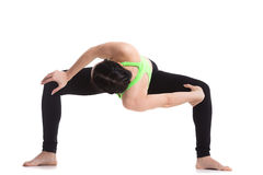 Temple twist yoga pose Royalty Free Stock Photography