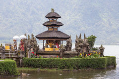Temple Ulun Danu Bratan on the lake in Bali , Indonesia Stock Photo