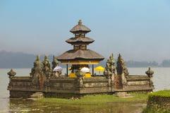 Temple Ulun Danu on lake Beratan, Bali Royalty Free Stock Photos