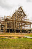 Temple under construction. Royalty Free Stock Images