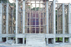 Temple under construction. Royalty Free Stock Photos