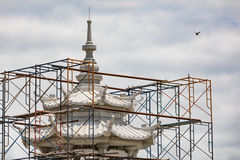 Temple Under construction,Nonthaburi. Temple Under construction,Nonthaburi Of Thailand Royalty Free Stock Photos