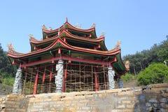 Temple under construction stock photos