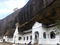 Temple under the rock. Stock Images