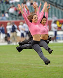 Temple University dance team member leaps Stock Photography