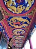 Temple urbain bouddhiste en Hong Kong photos stock