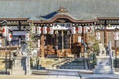 Temple urbain de Shintoism, Osaka, Japon images stock