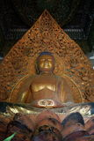Temple Valley 18 foot gold Leaf Buddha Stock Image