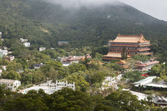 Temple in the valley. Grand Temple in the valley Mountian Stock Photos