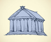 Temple. Vector drawing Stock Photos