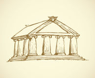 Temple. Vector drawing Stock Photo