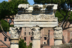 Temple of Venus Genetrix column in the center of Rome Royalty Free Stock Photo