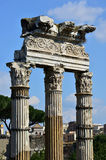 Temple of Venus Genetrix column in the center of Rome Stock Images
