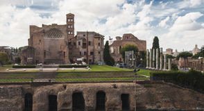 Temple of Venus and Roma Royalty Free Stock Images