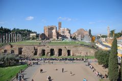Temple of Venus and Roma, Arch of Constantine, landmark, city, human settlement, town square. Temple of Venus and Roma, Arch of Constantine is landmark, town Stock Images