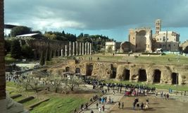 Temple of Venus and Roma, historic site, archaeological site, ruins, tourist attraction. Temple of Venus and Roma is historic site, tourist attraction and stock photos