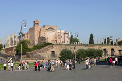 Temple of Venus and Roma, Italy Royalty Free Stock Image