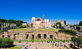 The Temple of Venus and Roma Stock Photos