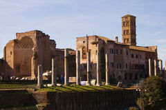 The Temple of Venus in Rome Royalty Free Stock Photos