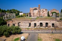 Temple of venus and rome Royalty Free Stock Photography