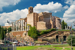 Temple of Venus in Rome Stock Images