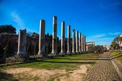 Temple of Venus and Rome - columns Stock Photo