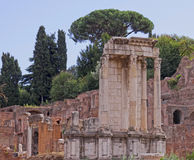Temple of Vesta HDR Royalty Free Stock Photography