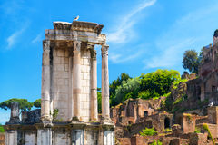 The Temple of Vesta in Roman Forum, Rome, Royalty Free Stock Image